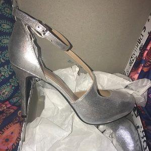 Fabulous Shimmery Silver heels